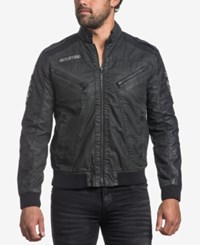 Affliction Men's Black Moon Full Zip Moto Jacket Heavy Enzyme Wash