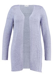 Zizzi Cardigan Eventide Melange Light Blue
