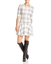 Aqua Alex Plaid Dropped Waist Dress