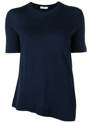 Pringle Of Scotland Asymmetric Merino Jumper Blue