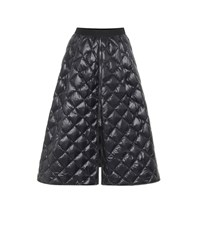 Moncler Quilted Down Midi Skirt Black
