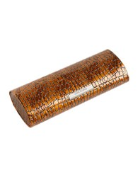 Corinne Mccormack Crocodile Print Magnetic Glasses Case Brown