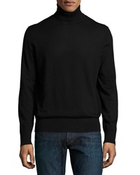 Neiman Marcus Superfine Cashmere Turtleneck Sweater Black
