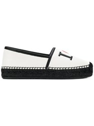 Dolce And Gabbana I Heart D G Espadrilles Leather Rubber White