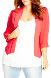 City Chic Plus Size Women's Drapey Mixed Media Blazer Lolly