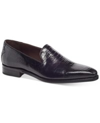 Carlos By Carlos Santana Men's California Ostrich Embossed Loafers Men's Shoes Oxford