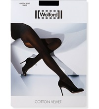 Wolford Cotton Velvet Tights Black