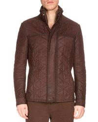 Berluti Diamond Quilted Washed Leather Jacket Buffaloes