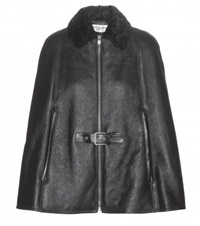 Saint Laurent Leather Cape Black