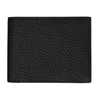 Maison Takuya German Shrunken Calf Wallet Black White