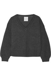 Mason By Michelle Mason Wool And Cashmere Blend Sweater Gray