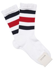 Gucci Ruffled Cotton Blend Socks