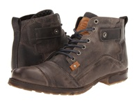 Type Z Harvey Grey Leather Men's Lace Up Boots Gray