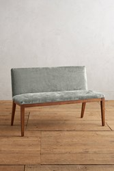 Anthropologie Slub Velvet Emrys Bench Slate
