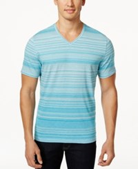 Alfani Red Men's Klaus Striped V Neck T Shirt Only At Macy's
