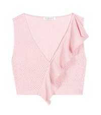 Marysia Seahaven Cotton Crop Top Pink