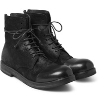 Marsell Brushed Nubuck And Leather Boots