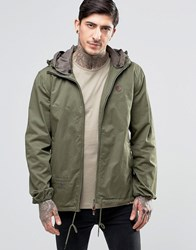 Pretty Green Jacket With Hood In Khaki Khaki Green