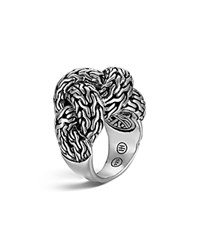 John Hardy Classic Chain Silver Large Braided Ring