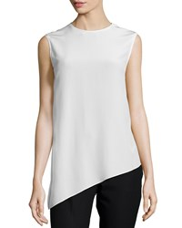 Joseph Asymmetric Silk Shell Top Ivory