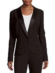 Carolina Herrera Solid Tux Jacket Natural White