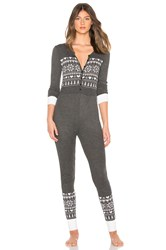 Wildfox Couture Fair Isle Onsie Charcoal
