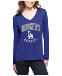 47 Brand '47 Women's Los Angeles Dodgers Splitter Arch Long Sleeve T Shirt Royalblue
