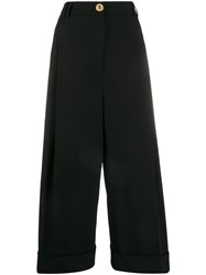 Escada Wide Leg Cropped Tailored Trousers 60