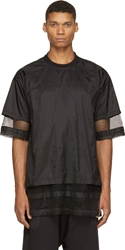 Ktz Nylon And Mesh Layered T Shirt