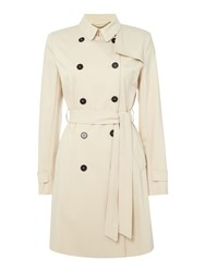 Marella Paloma Longsleeve Belted Trench Coat Beige