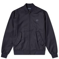 Fred Perry Wool Mix Bomber Jacket Blue