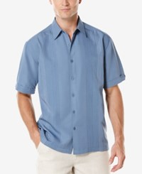 Cubavera Big And Tall Ombre Embroidered Short Sleeve Shirt Coronet Blue