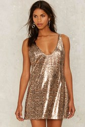 Nasty Gal Collection Cold Hearted Snake Sequin Dress Animal