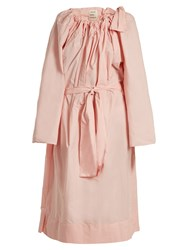 Maison Rabih Kayrouz Tie Neck Gathered Paper Taffeta Dress Light Pink