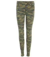 True Religion Halle Camouflage Skinny Jeans Green
