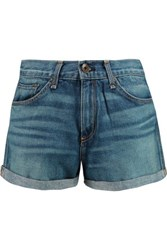 Rag And Bone Rag And Bone Sigrun High Rise Denim Shorts Mid Denim