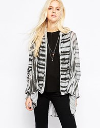 Religion Vanish Drape Stripe Cardigan Multi