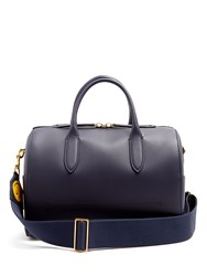 Anya Hindmarch Vere Barrel Leather Bag Navy
