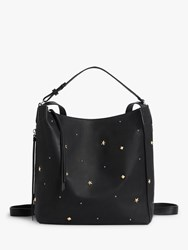 Allsaints Mazzy Small Leather Backpack Black