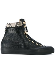 Giuliano Galiano No Limits Hi Top Sneakers Men Leather Foam Rubber 39 Black