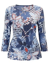 Gerry Weber 3 4 Sleeve Printed Jersey Top Multi