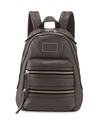 Domo Leather Biker Backpack Faded Aluminum Marc By Marc Jacobs