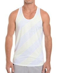 2Xist Trainer Tech Dotted Racerback Tank White Dot