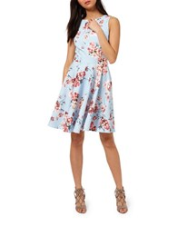 Miss Selfridge Floral Print Skater Dress Multi