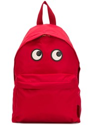 Anya Hindmarch Eyes Backpack Red