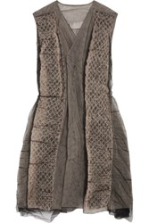Rick Owens Mesh Gilet Taupe