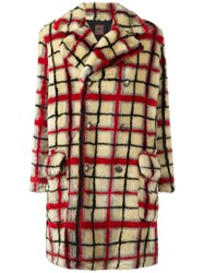 Jean Paul Gaultier Vintage Faux Fur Patterned Coat Nude Neutrals