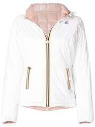 K Way Hooded Padded Jacket White