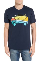 Palmercash Men's Beach Van Graphic T Shirt Navy