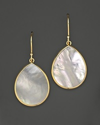 Ippolita 18K Gold Polished Rock Candy Mini Teardrop Earrings In Mother Of Pearl